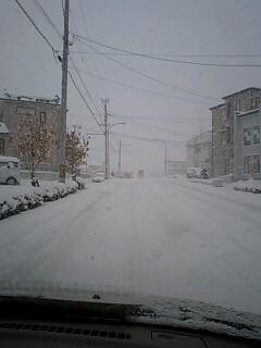 いきなりこの雪?