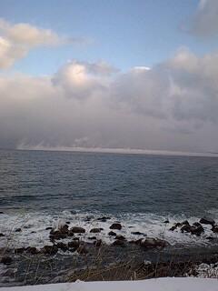 日本海のけあらし