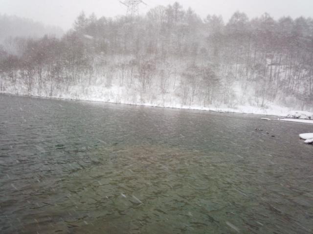 真冬のレイクミノーイング
